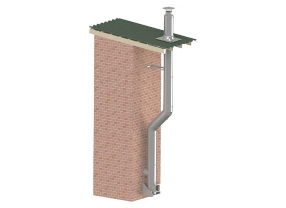 Dvisienių dūmtraukių sistema DK-1