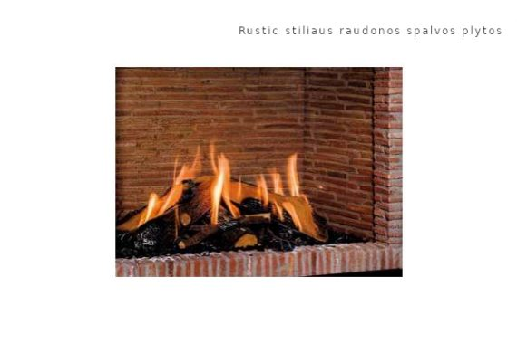 Bellfires Rustic stiliaus raudonos spalvos plytos