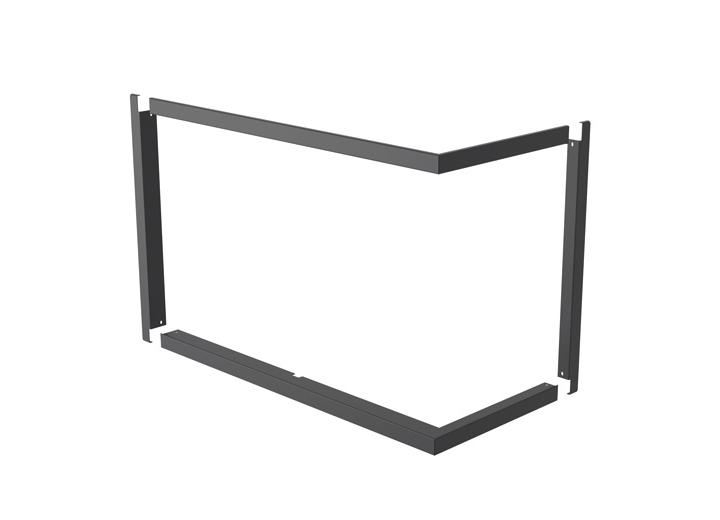 Rocal ARc Lateral dekoratyvinis rėmelis 4cm juodas