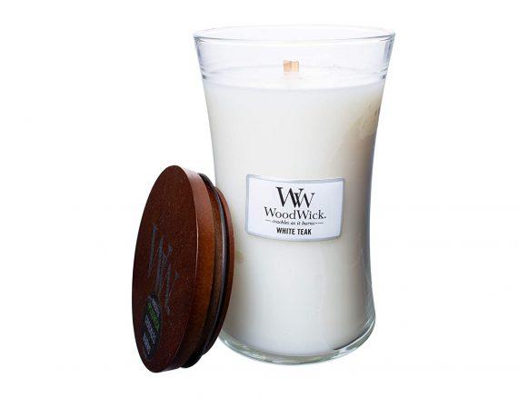 """Aromatinė žvakė WoodWick """"Baltasis tikmedis"""""""
