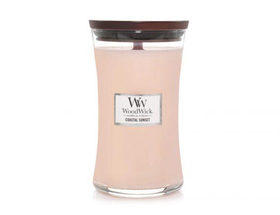 """Aromatinė žvakė WoodWick """"Saulėlydis pakrantėje"""""""